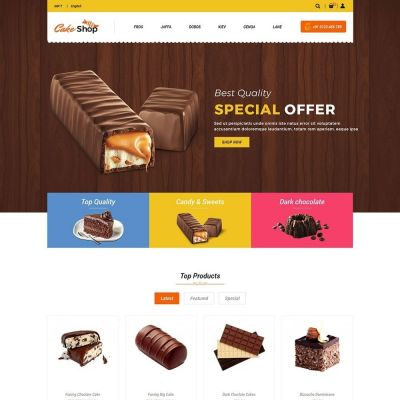cake food bread prestashop theme
