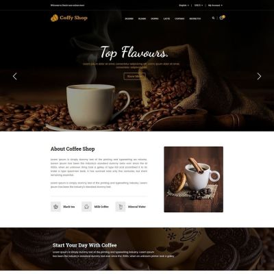 Coffee store food drink prestashop theme
