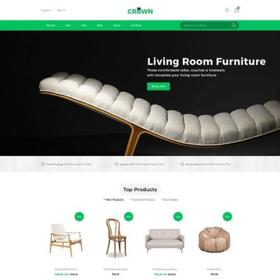 Crown furniture store prestashop theme
