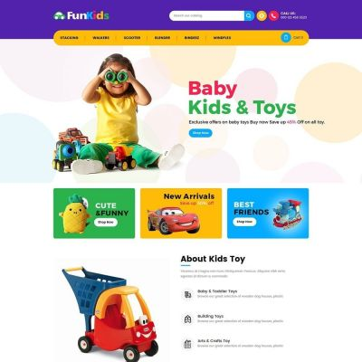 fun kids toy store prestashop theme
