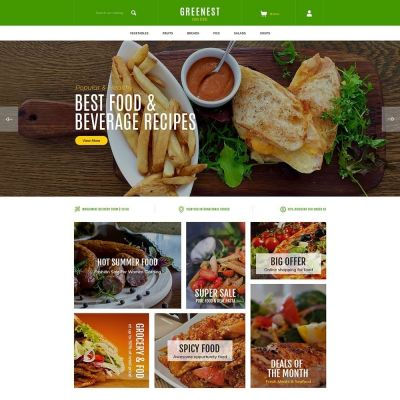 Greenest food pizza prestashop theme