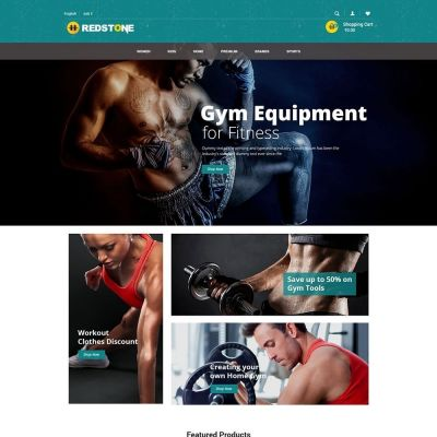 Gym multipupose store Prestashop Theme