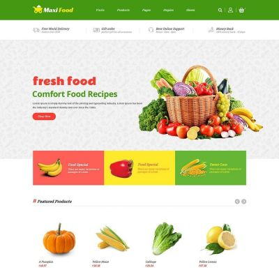 Maxi Food Vegetable Prestashop Theme