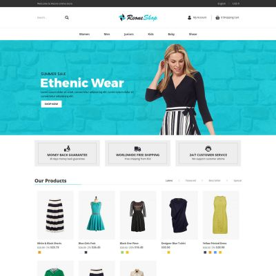 reone fashion cloth prestashop theme
