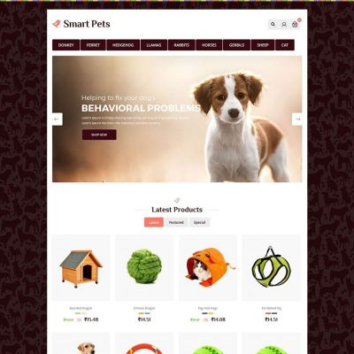 smart pet animal prestashop theme