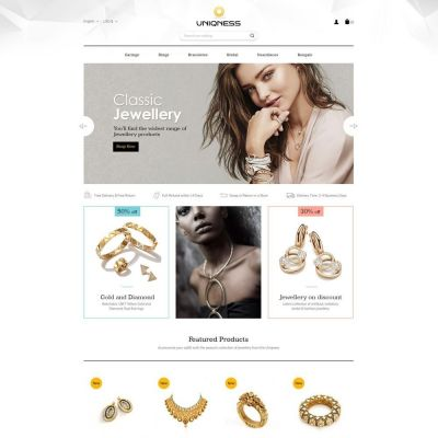 Uniqness jewellery prestashop theme