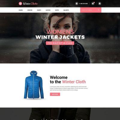 winter cloth fashion Prestashop theme